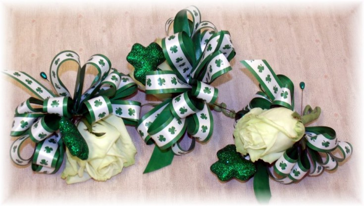 St. Patricks Day Corsages by MaryJane's Flowers & Gifts, Berlin NJ