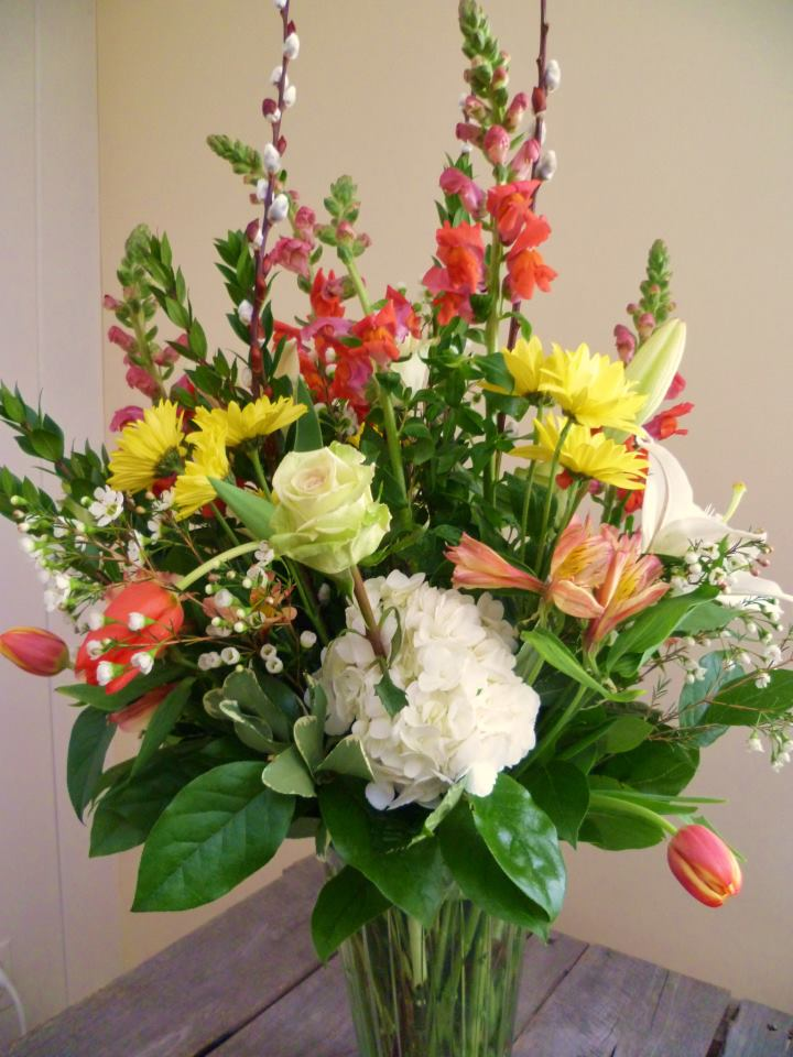 Cheery spring design by Paisley Floral Design, Manchester NH