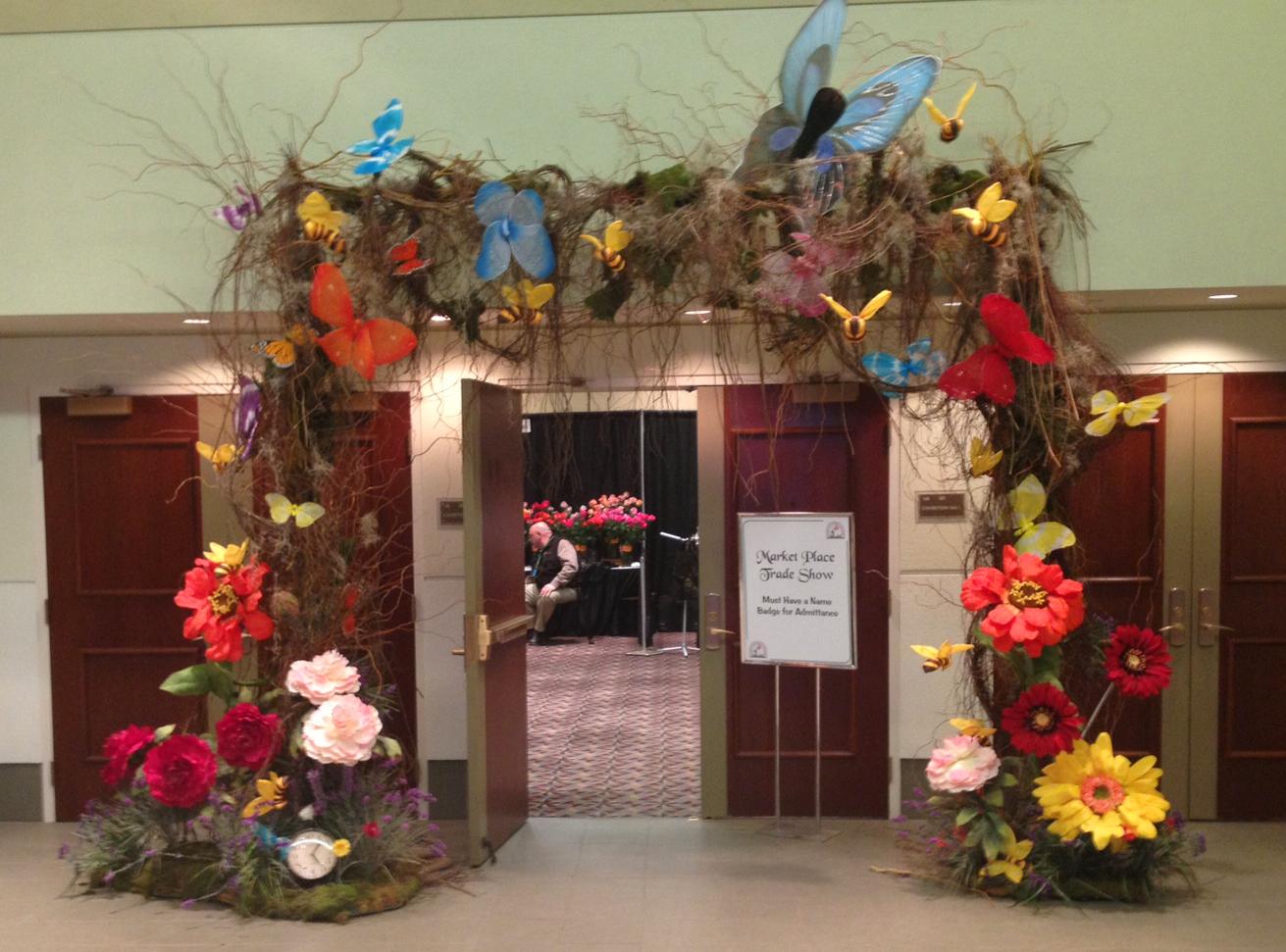 Entrance Trade Show Plexi : Fsn at the illinois state florist convention