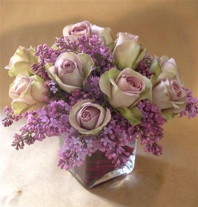 Lilac flower arrangement by Richard Salome Flowers Inc., New York, NY