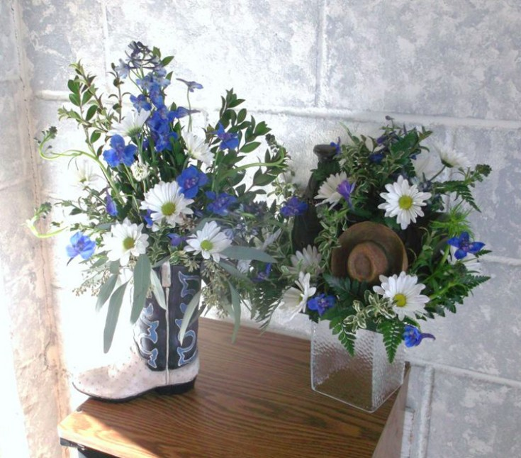Cowboy memorial flowers by A-1 Flowers & More, Cottonwood ID