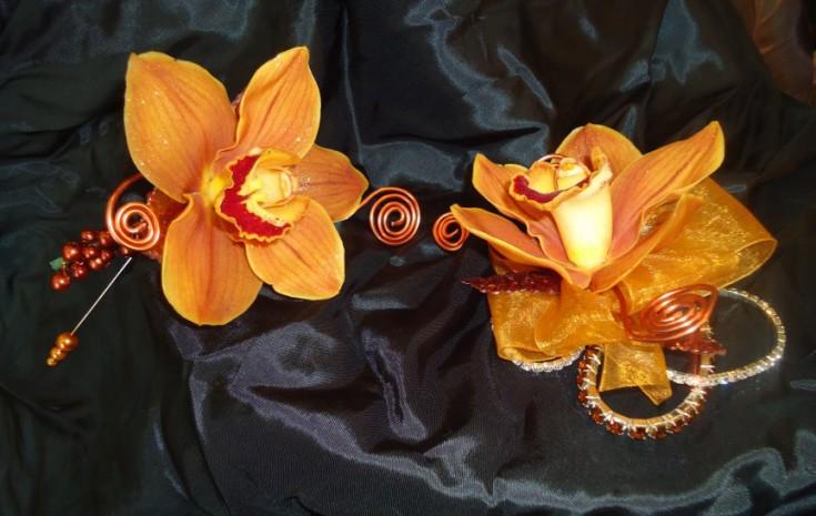 Orange prom flowers by Alma Blooms, Alma WI