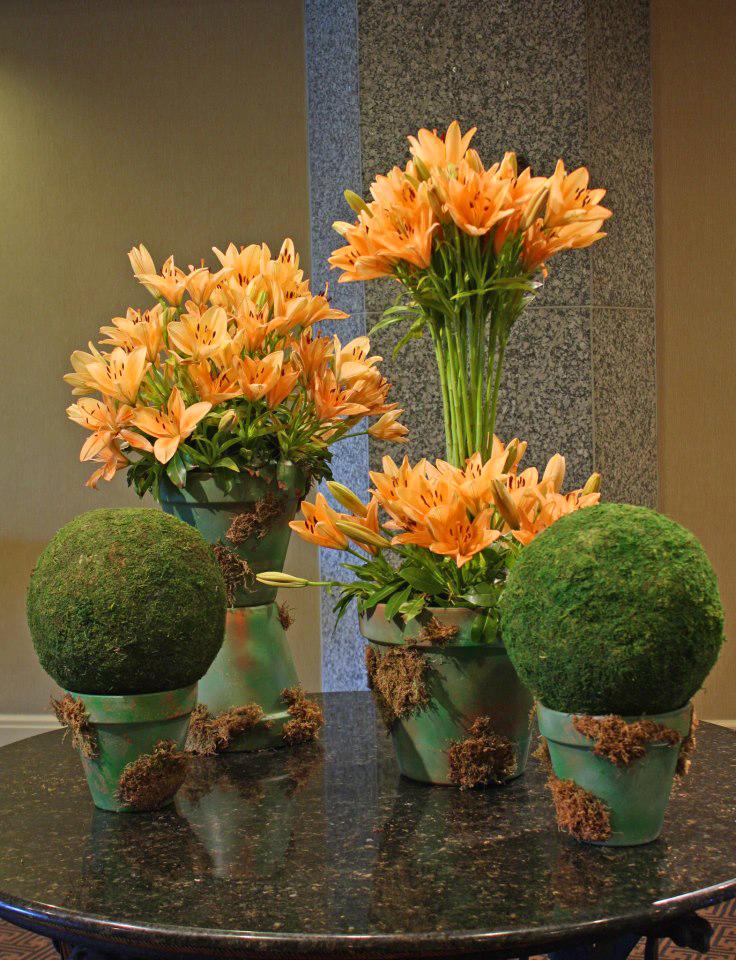 Mossy spring design by Crossroads Florist, Mahwah NJ