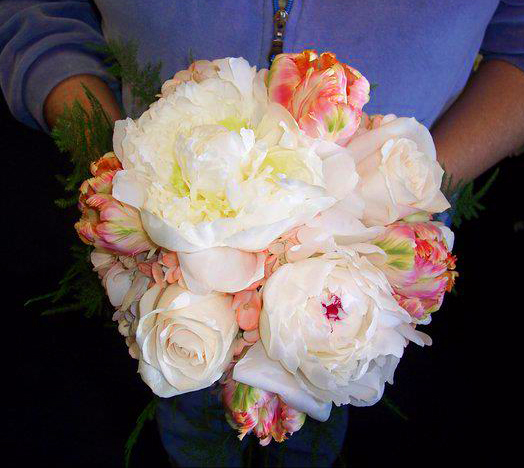 Peony and rose wedding bouquet by Flower Boutique, Cherry Hill NJ