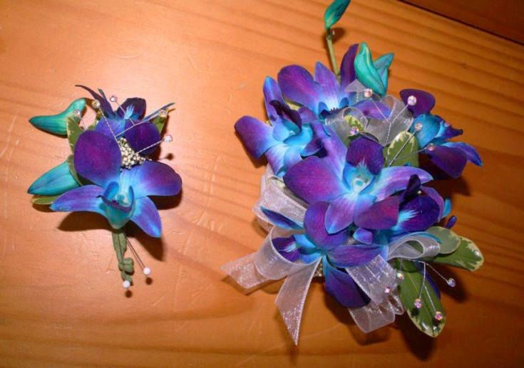 Blue orchid prom flowers by Flower Boutique, Cherry Hill NJ