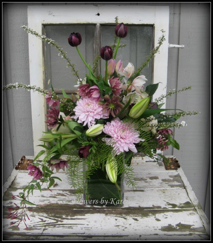 Rustic spring flowers by Flowers by Karen, Monroe WA