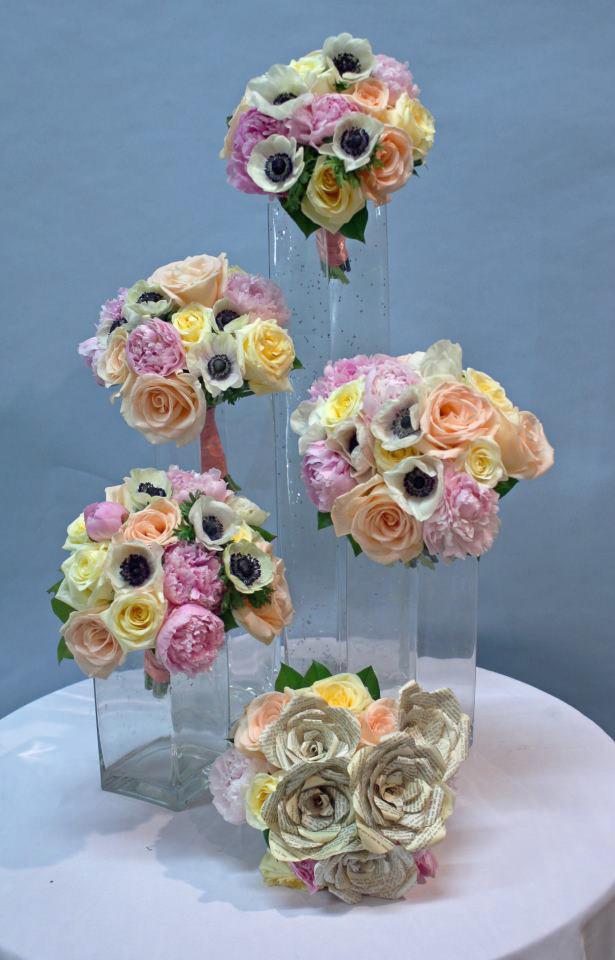 Librarian wedding flowers by Crossroads Florist, Mahwah NJ