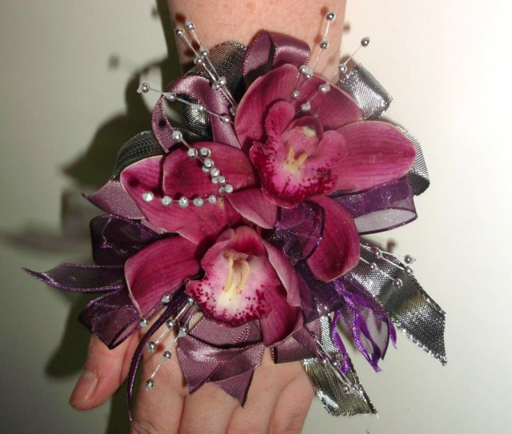 Orchid prom corsage by A Lovie Creation Floral Design, Gresham OR