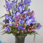 Iris flower arrangement by Magnolia Blossom Florist, Magnolia AR