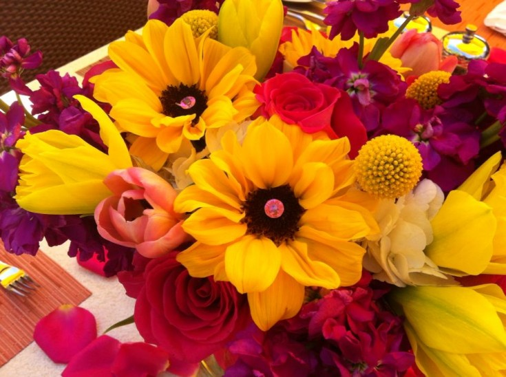 Bright and cheery flowers by Petals by the Beach, San Diego CA