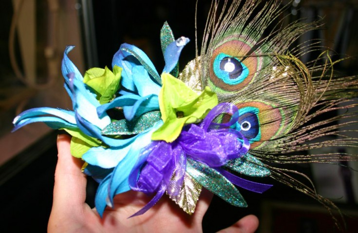 Peacock corsage by Platte's Floral & Rentals, Platte SD