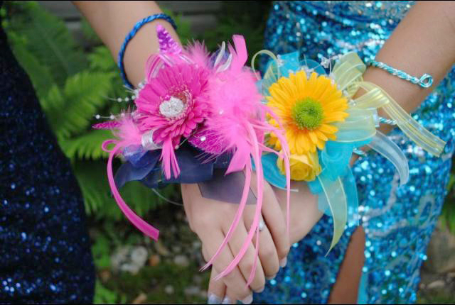 Fun prom corsages by Designs by Vogt's Floral & Gifts, Sturgis MI