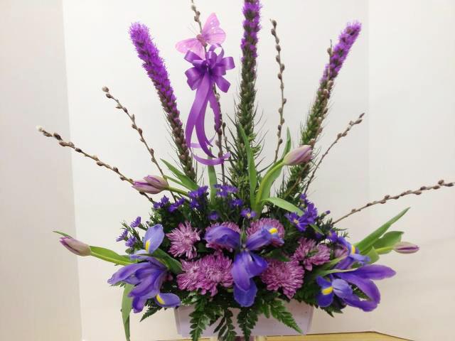 Purple flowers by Bentley Florist, Burton MI