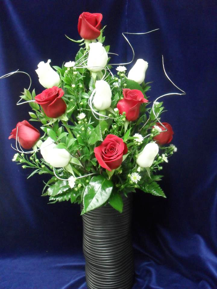 Rose arrangement by Buds & Blossoms, Edgewood MD
