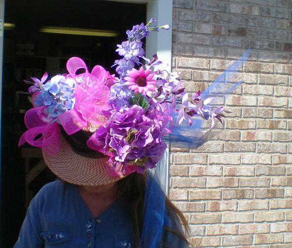Derby hat flowers by C.I.D. Floral, Sherman IL