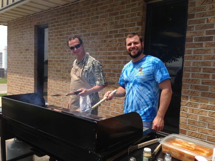 Brock & Jason cooking out for everyone.