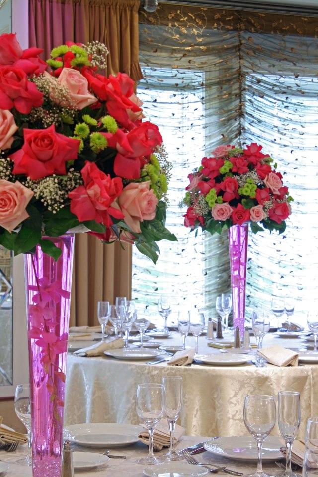 Wedding reception by Crossroads Florist, Mahwah NJ