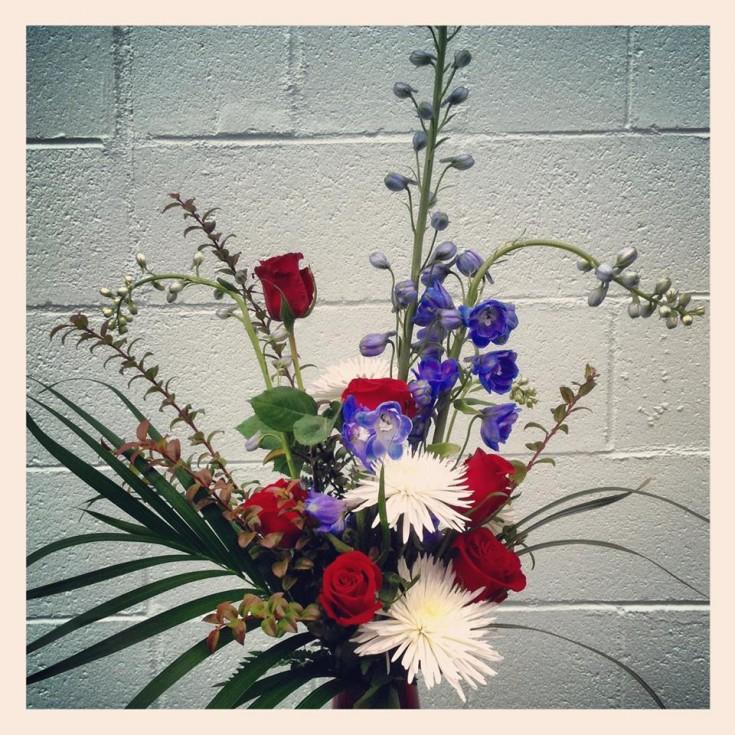Armed Forces Day flowers by Everett Floral, Everett WA