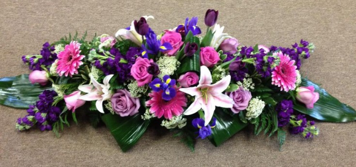 Floral centerpiece by Flower Boutique, Cherry Hill NJ