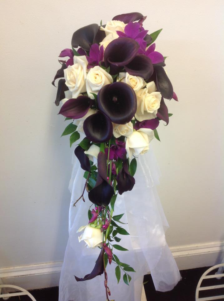 Cascading calla bouquet by Flower Factory, Swindon England