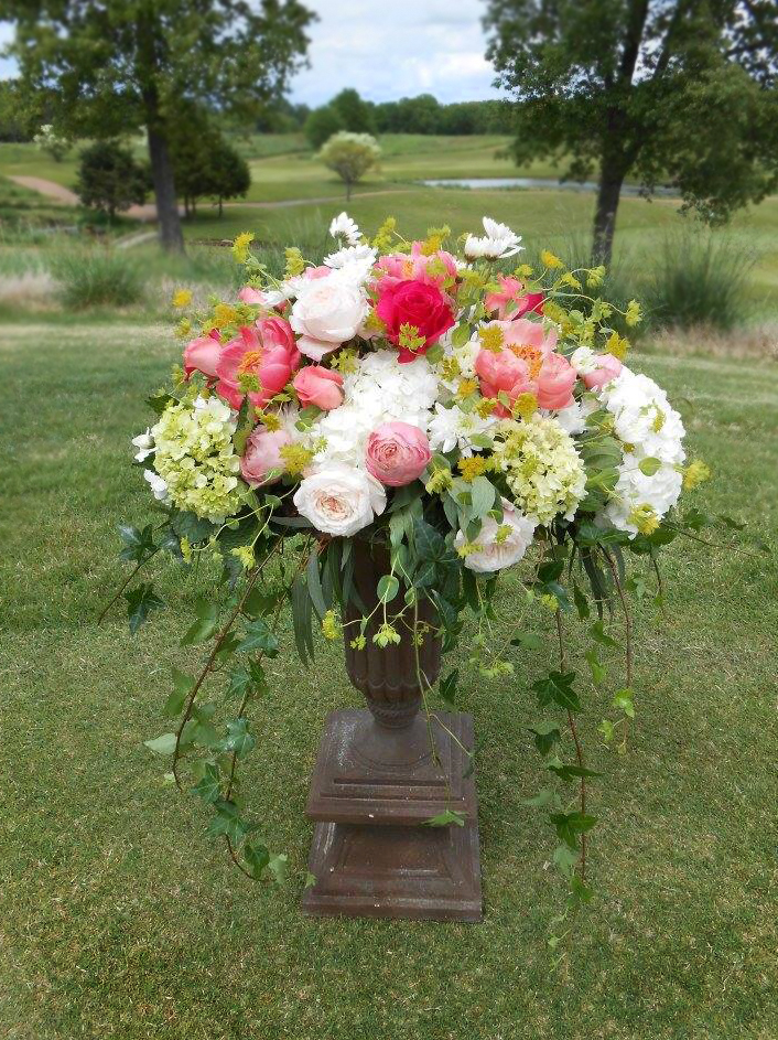 Victorian-style arrangement by Hometown Flowers & Gifts, Covington TN