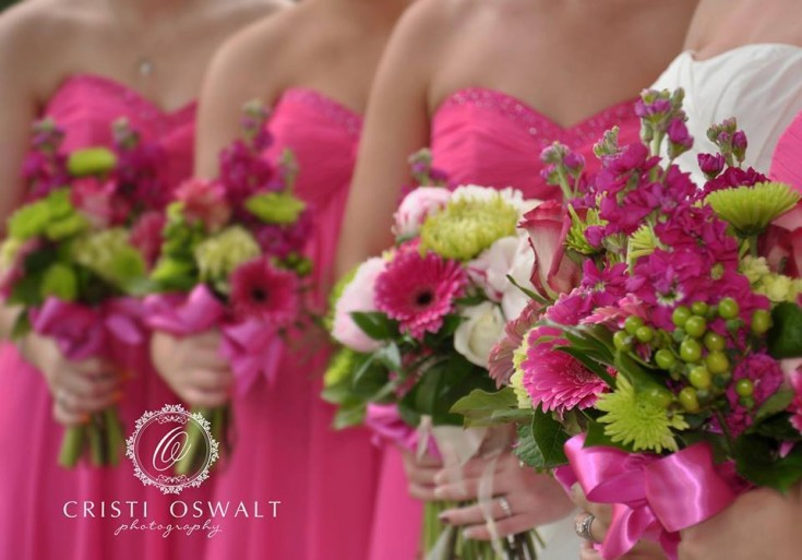 Bridesmaid flowers by Hometown Flowers & Gifts, Covington TN