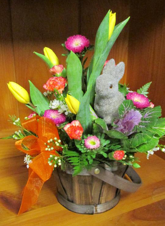 Easter flowers by Kathryn's Florist & Gifts, Winchester NH