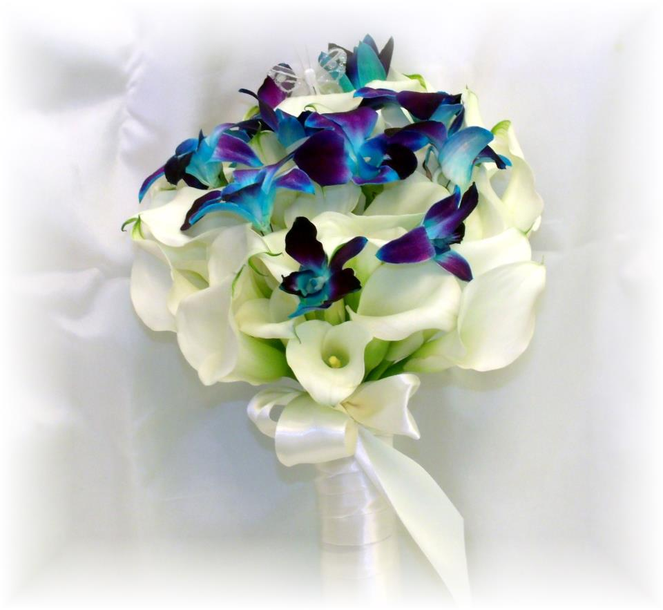 Florist friday recap 427 53 merry may blue orchid bouquet by maryjanes flowers gifts berlin nj izmirmasajfo
