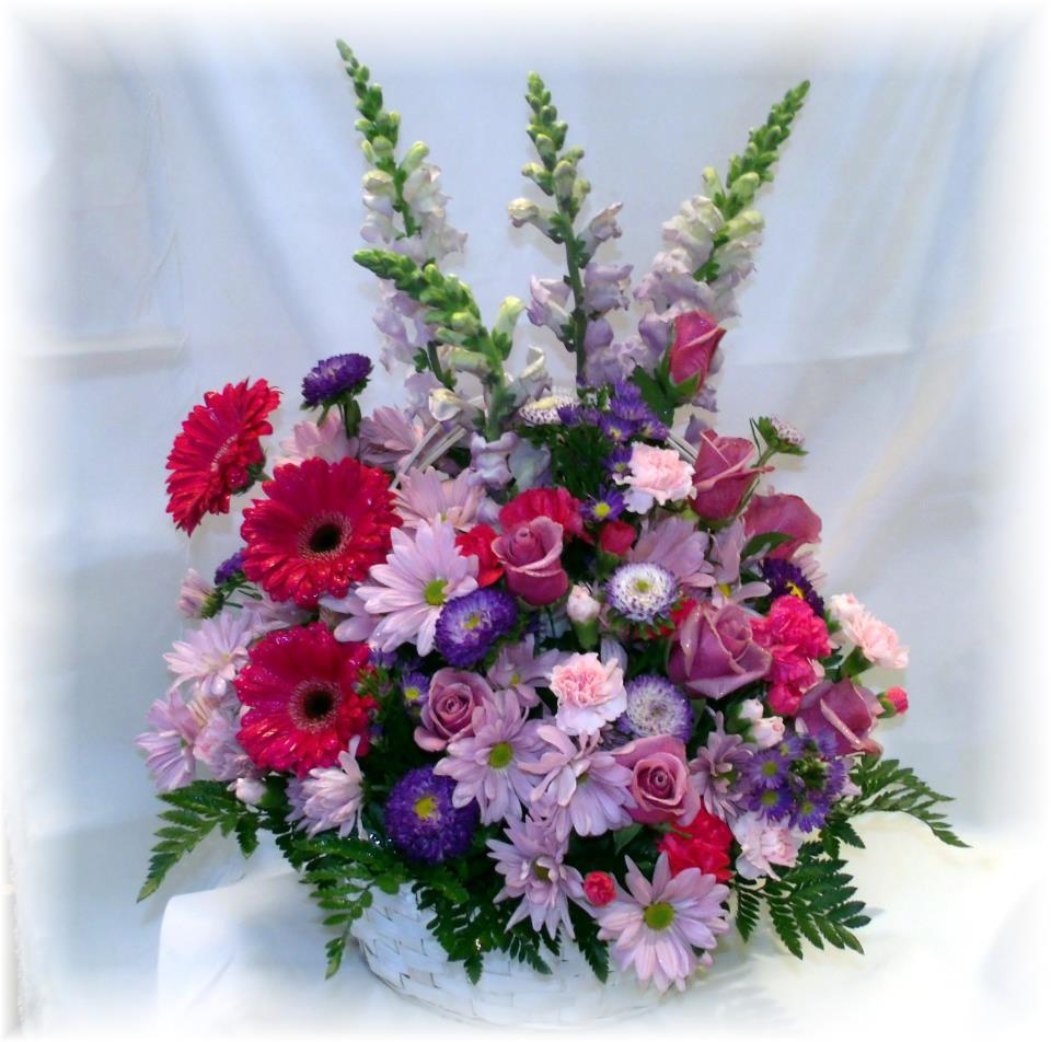 Basket arrangement by Maryjane's Flowers & Gifts, Berlin NJ