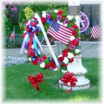 Patriotic wreath by MaryJane's Flowers & Gifts, Berlin NJ