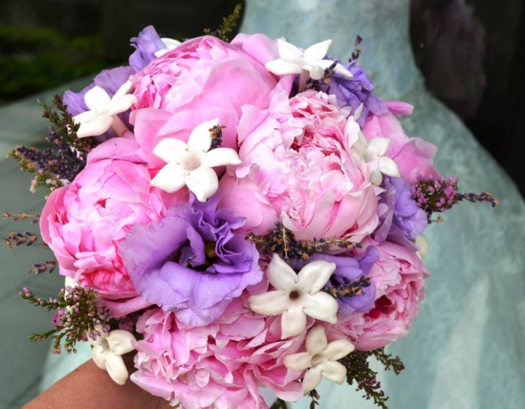 Peony wedding bouquet by Monday Morning Flowers, Princeton NJ