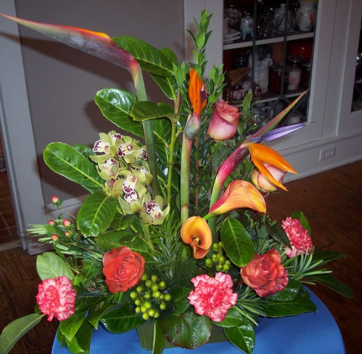 Tropical flowers by Treehouse Florist, New Freedom PA