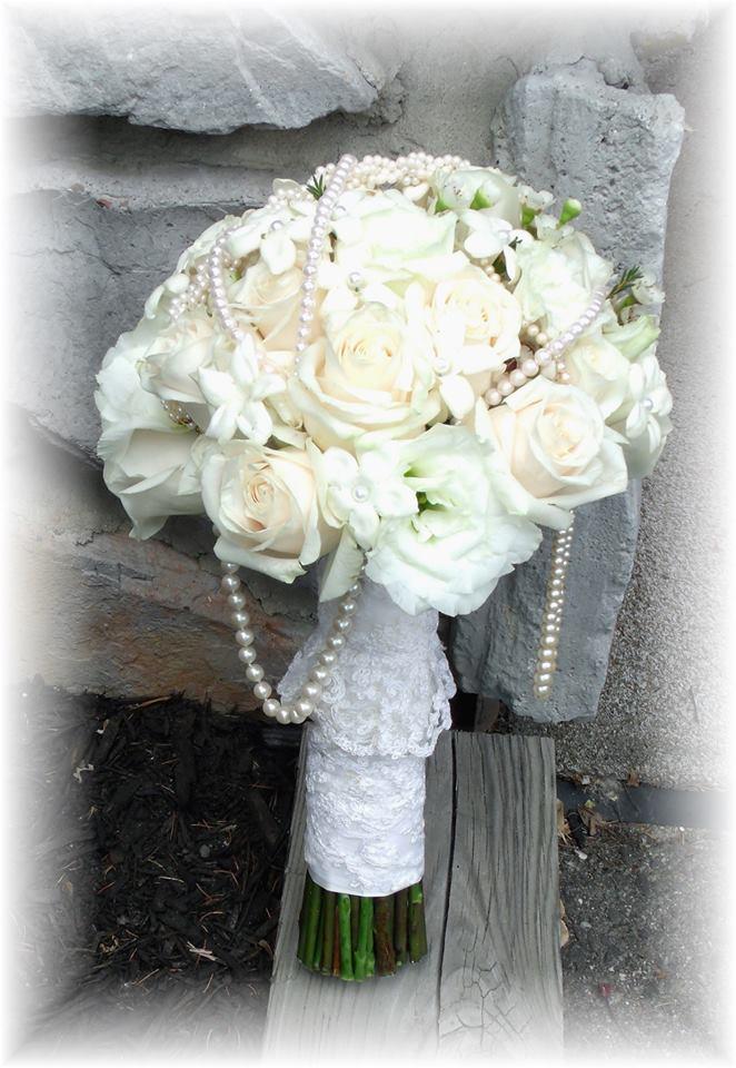 White wedding bouquet by MaryJane's Flowers & Gifts, Berlin NJ