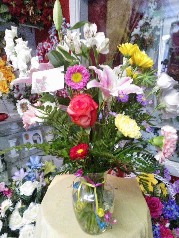 Flower arrangement Wilma's Flowers, Japser AL