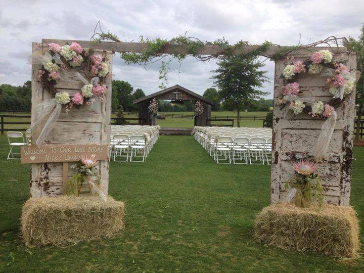 Rustic Wedding Entry