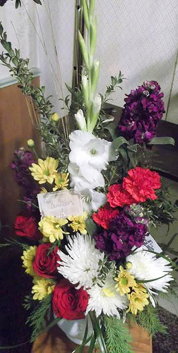 Sympathy arrangement by A-1 Flowers & Gifts, Cottonwood ID