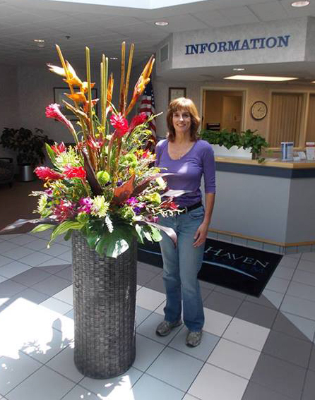 Hospital flowers by Back to the Fuchsia Florist, Saugatuck, MI