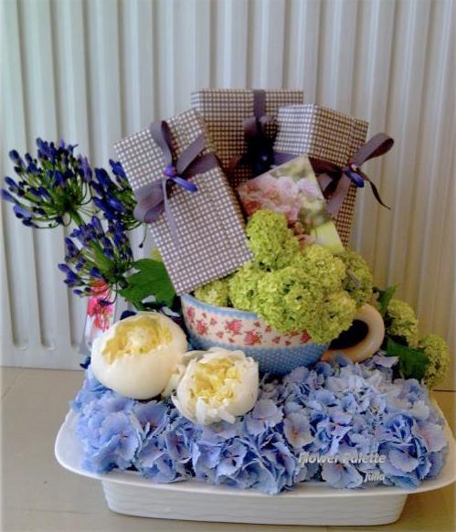 Birthday arragement by Palette Flowers, Abu Dhabi, UAE