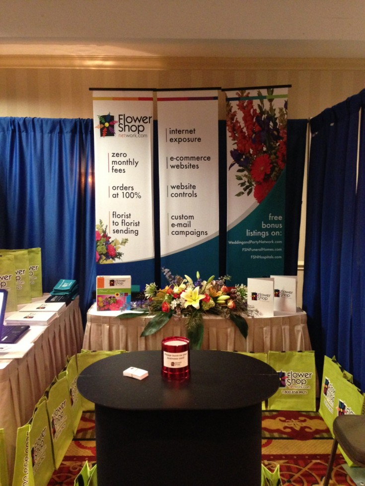 Flower Shop Network booth at the Louisiana Florist Convention