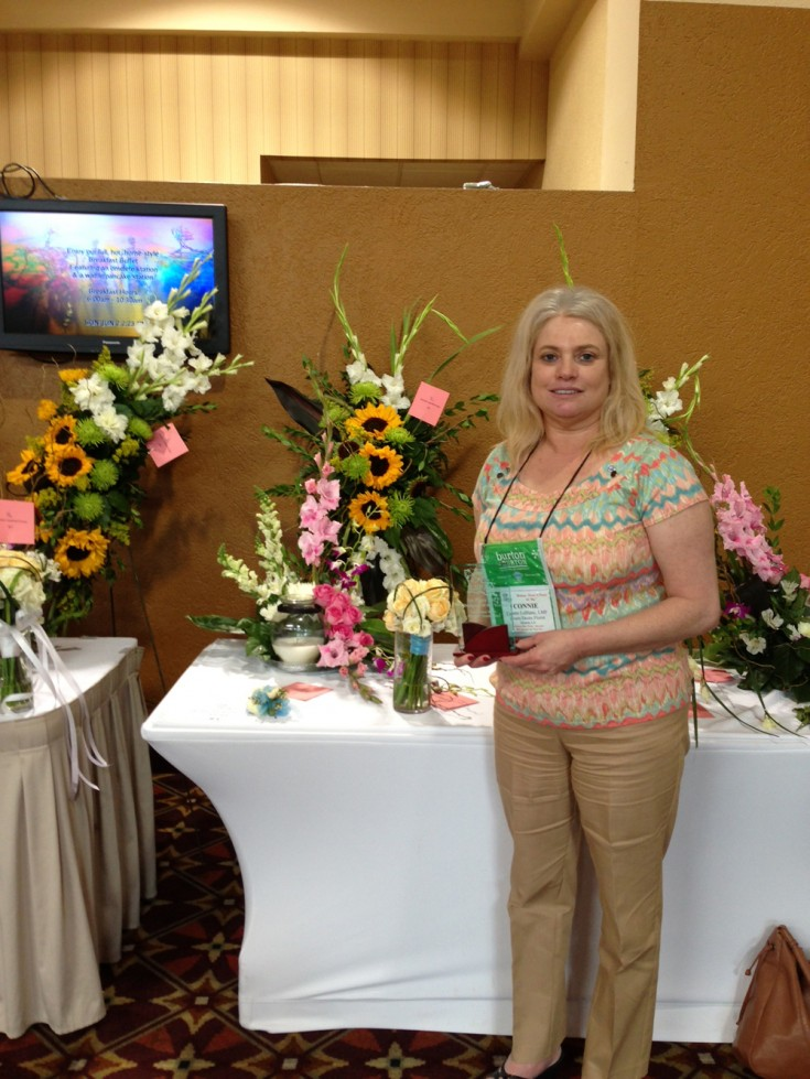 Connie LeBlanc of Hearts Desire Florist - 1st Place Designer of the Year!