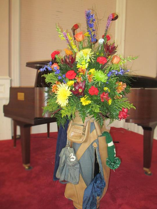 Father's Day flower arrangement by Libby's Flowers, Gifts & More, Elberton GA