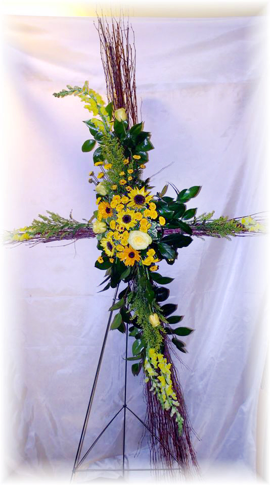 Sunflower cross by MaryJane's Flowers & Gifts, Berlin NJ