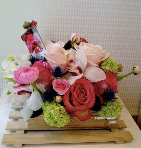 Pink arrangement by Palette Flowers, Abu Dhabi UAE
