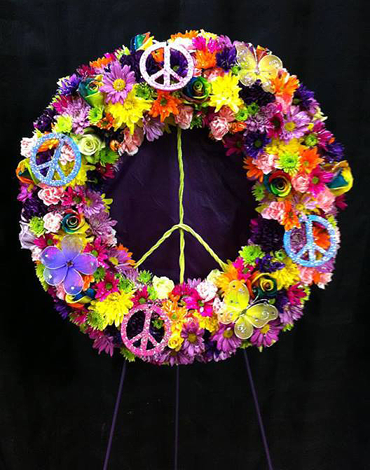 Peace sign tribute spray, West End Florist, Rome GA