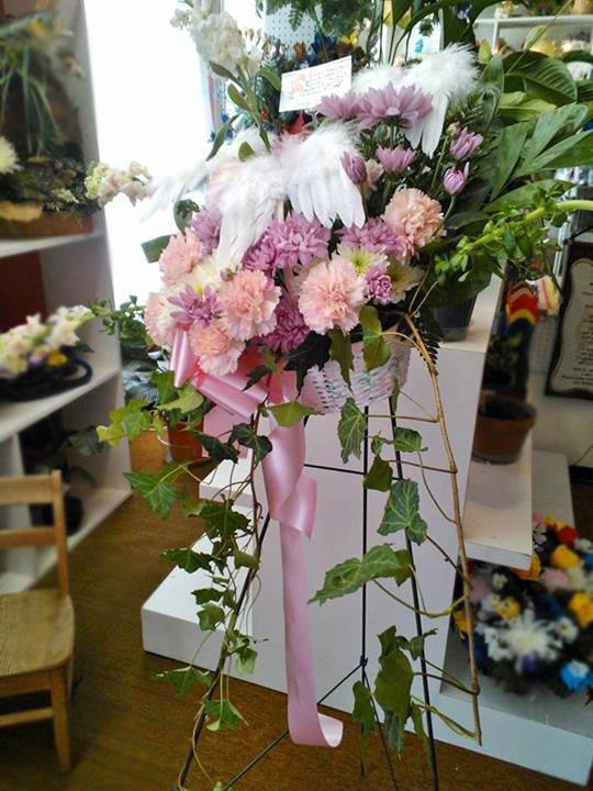 Angel flower basket by Wilma's Flowers, Jasper AL
