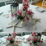 Beath theme reception flowers by Mystical gardens in Brunswick GA