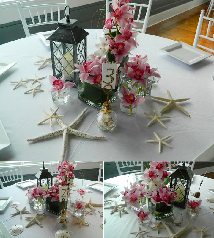 Beath theme reception flowers by Mystical gardens in Brunswick GA