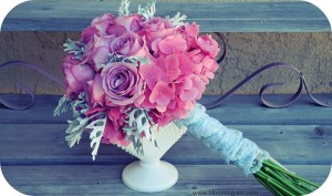 Romantic Vintage Bouquet by Blooming Art Floral Design in San Diego CA