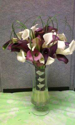 Calla wedding bouquet by Cottage Florist, Riverview FL