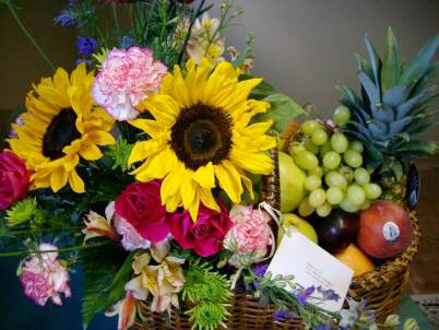 Fruit & Flower design by Personal Touch Florist, Troy OH